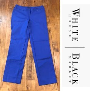 White House Black Market 0R Slim Ankle Blue Pants